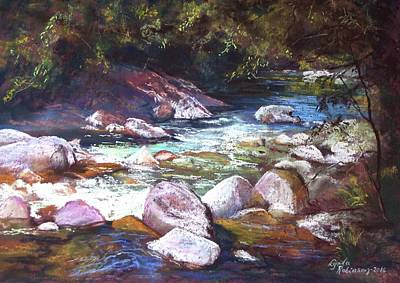 Painting - A Glimpse Of Mosman Gorge by Lynda Robinson