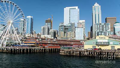 Photograph - A Glimpse Of Seattle by Deborah Klubertanz