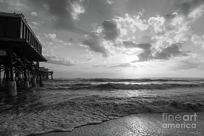 Photograph - A Glorious Beach Morning Grayscale by Jennifer White