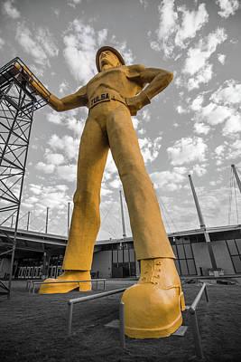 Photograph - A Golden Driller - Tulsa Oklahoma by Gregory Ballos