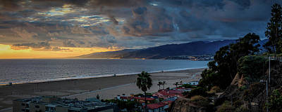 Photograph - A Golden Evening Over Malibu - Panorama by Gene Parks