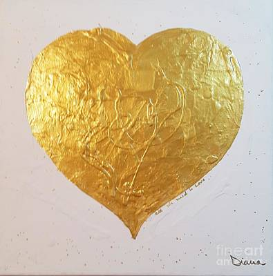 Painting - A Golden Heart by Diana Bursztein