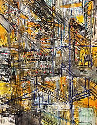 Digital Art - A Golden Space by Nancy Kane Chapman