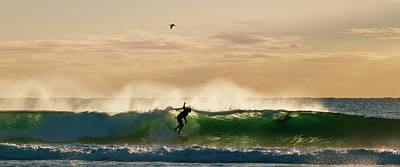 Photograph - A Golden Surfing Moment by Odille Esmonde-Morgan