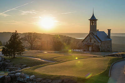 Art Print featuring the photograph A Golfers Paradise - Top Of The Rock - Branson Missouri by Gregory Ballos