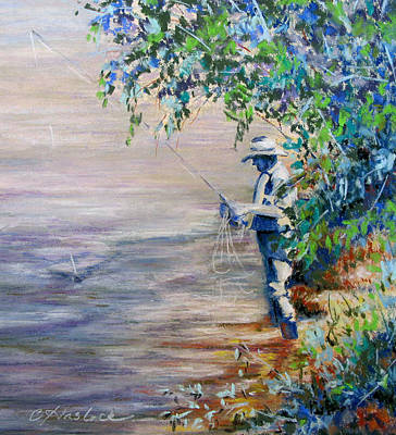 Pastel - A Good Day Fishing by Carole Haslock
