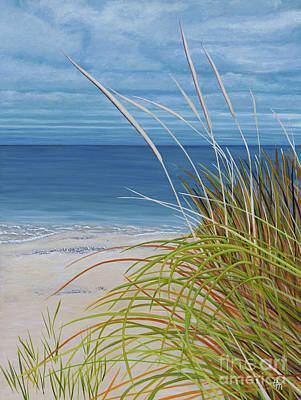 Painting - A Good Day For Beachcombing by Barbara McMahon