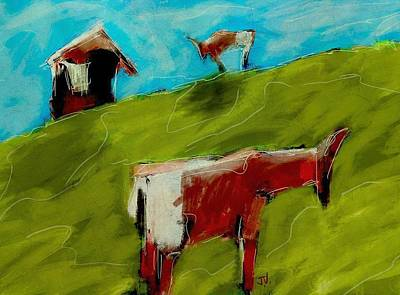 Painting - A Good Day For Grazing by Jim Vance