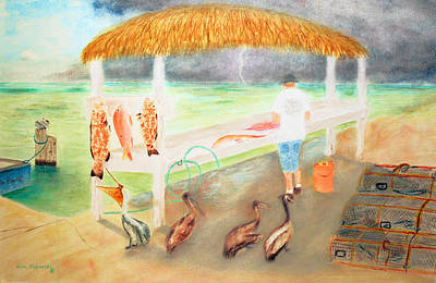 Key West Painting - A Good Day Of Fishing by Ken Figurski