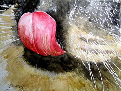 Painting - A Good Lick  by Carol Grimes