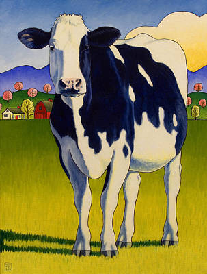 Bovine Animals Painting - A Good Looking Cow by Stacey Neumiller