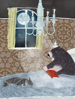 Painting - A Good Read by Bleu Bri