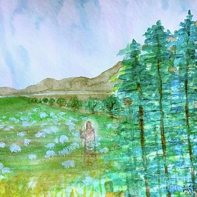 Painting - A Good Shepherd by Wonju Hulse