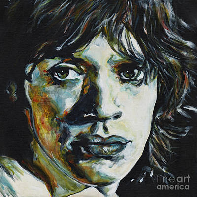 Mick Jagger Poster Painting - Almost Hear Your Sigh. Mick Jagger by Tanya Filichkin