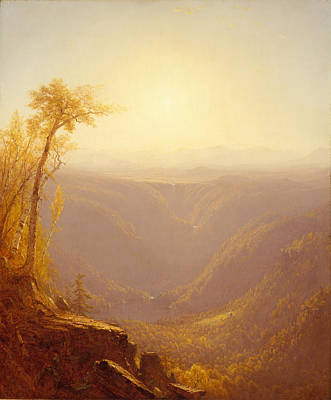 Cloves Painting - A Gorge In The Mountains. Kauterskill Clove by Sanford Robinson Gifford