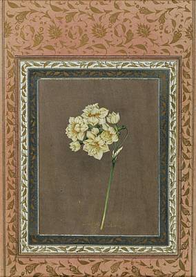 18th Century Painting - A Gouache And Gold On Paper Album Leaf by Muhammad Masih