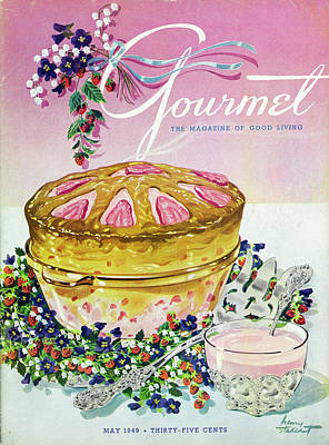 Food Photograph - A Gourmet Cover Of A Souffle by Henry Stahlhut