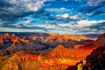 A Grand Canyon Sunset Art Print by Mountain Dreams