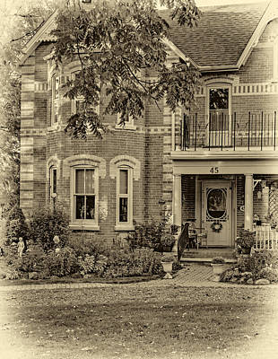Antique Photograph - A Grand Victorian 3 - Sepia by Steve Harrington