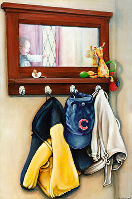 A Grandsons Prized Possessions Cubs Art Print by Leo Malboeuf