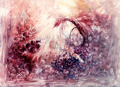 Winery Painting - A Grape Fairy Tale by Rachel Christine Nowicki