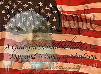 Photograph - A Grateful Nation by Ken Frischkorn