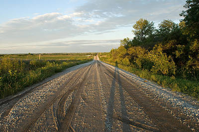 Gravel Road Photograph - A Gravel Road Leads Away From A Farm by Joel Sartore
