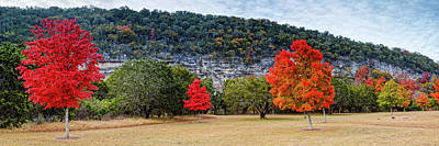 A Great Day For A Picnic Lost Maples - Fall Foliage - Texas Hill Country  Print by Silvio Ligutti
