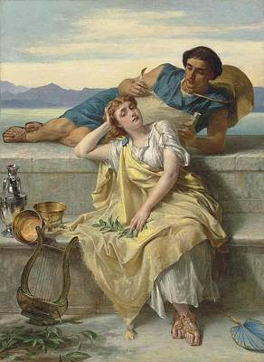 Ode Painting - A Greek Ode by Alfred Elmore