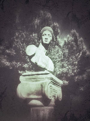 Statue Portrait Photograph - A Greek Statue by Tom Gowanlock