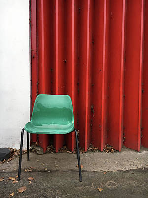 A Green Chair Art Print by Tom Gowanlock