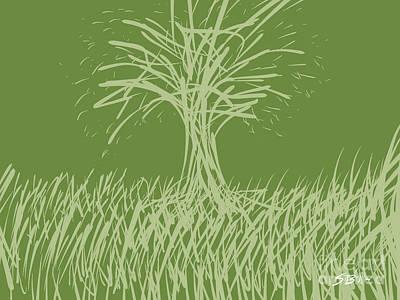 Digital Art - A Green Tree by Stacy C Bottoms