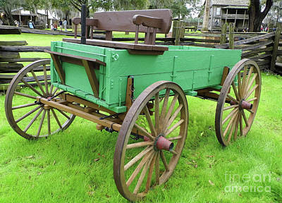 Photograph - A Green Wagon by D Hackett