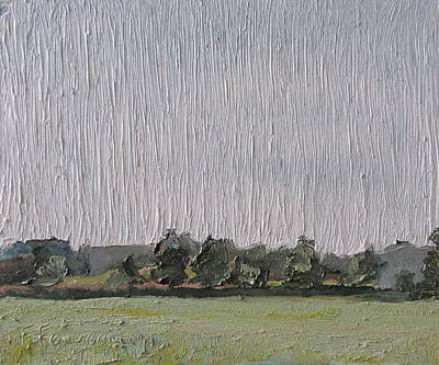 Eastern Townships Painting - .a Grey Day In Sawyerville Quebec Canada by Francois Fournier