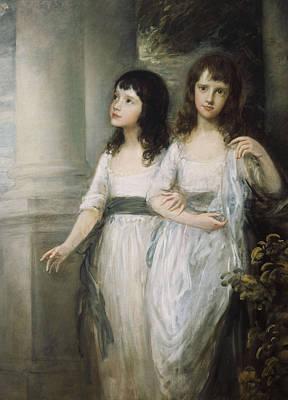 A Group Portrait Of The Misses Sloper Art Print by Thomas Gainsborough