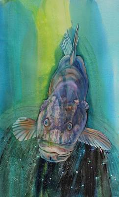 Save Our Water Painting - A Groupers Look Of Love by Teresa Grace Fourre