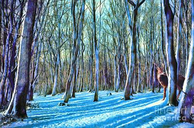 Painting - A Grove In Snow by Dave Luebbert