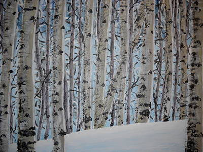 A Grove Of Aspens Art Print