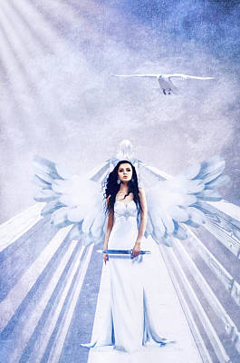Photograph - A Guardian Angel Will Attend Thee All Through The Night by Diane Schuster