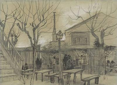 Painting - A Guinguette Paris, February - March 1887 Vincent Van Gogh 1853  1890 by Artistic Panda