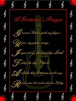 A Guitarist Prayer_2 Art Print by Joe Greenidge