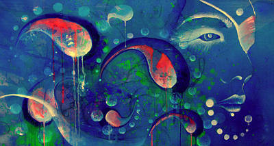 Wall Art - Painting - A Gypsy's Moon by Alicia Post
