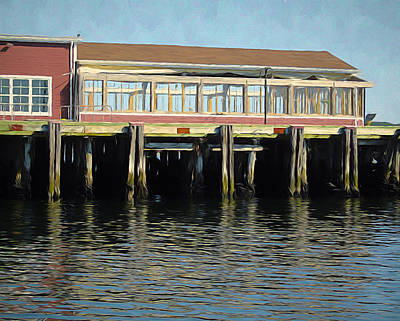 Mixed Media - A Halifax Pier by Susan Lafleur