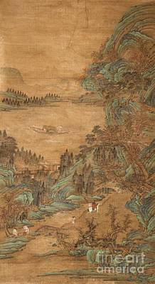 A Hanging Scroll In The Style Of Qiu Ying Print by Celestial Images