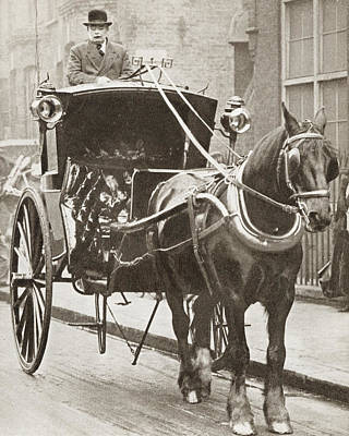 A Hansom Cab In London, England In Art Print