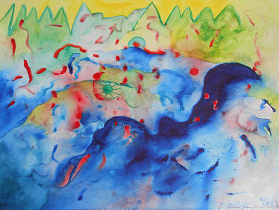 Multicolored Painting - A Happy Apocalypse by Laura Joan Levine