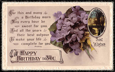 Digital Art - A Happy Birthday To You  by David and Lynn Keller