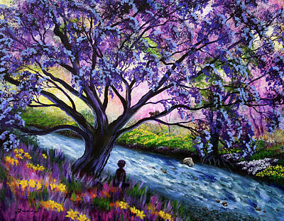 Painting - A Happy Moment Meditation by Laura Iverson