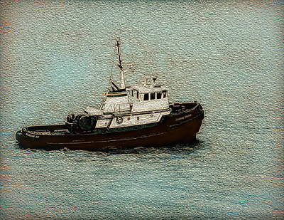 Photograph - A Hardworking Tugboat by John M Bailey