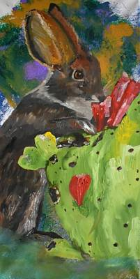 Painting - A Hare In The Pear by Susan Voidets